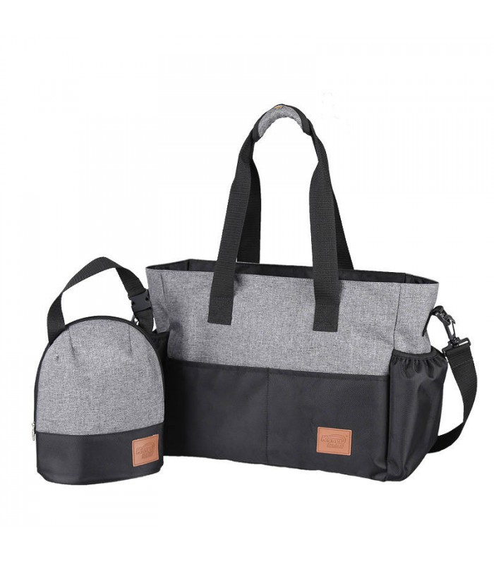 2pcs Multifunctional Baby Diaper Nappy Bag Grey Large