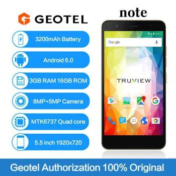 GEOTEL note 3GB RAM 16GB 5.5-inch Quad-Core Android6.0 3200mAh Smartphone