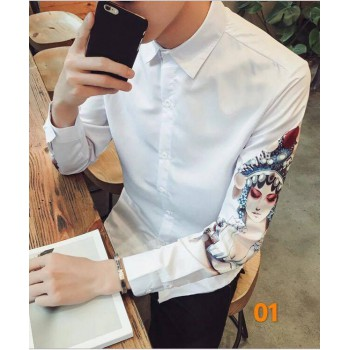 2018 new design floral long sleeve trendy shirt