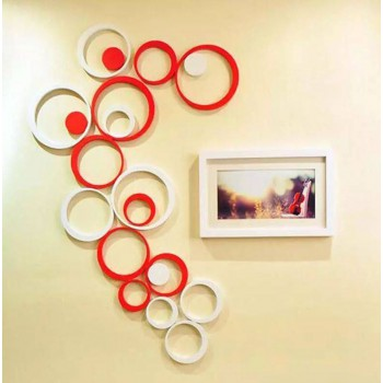 3D Wall Decoration - Circle White