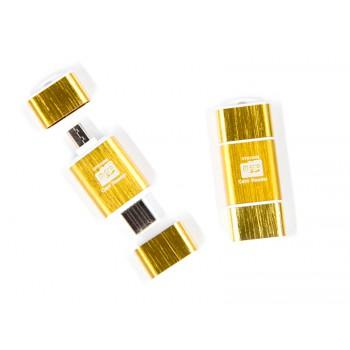 Alloy OTG USB 2.0 Media Cards Reader - Yellow