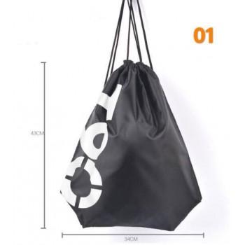 Beach Backpacks Swimming/Gym 32*43cm Double Layer Drawstring Waterproof Bag