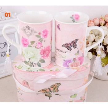 Fancy gift cup set with 2cups