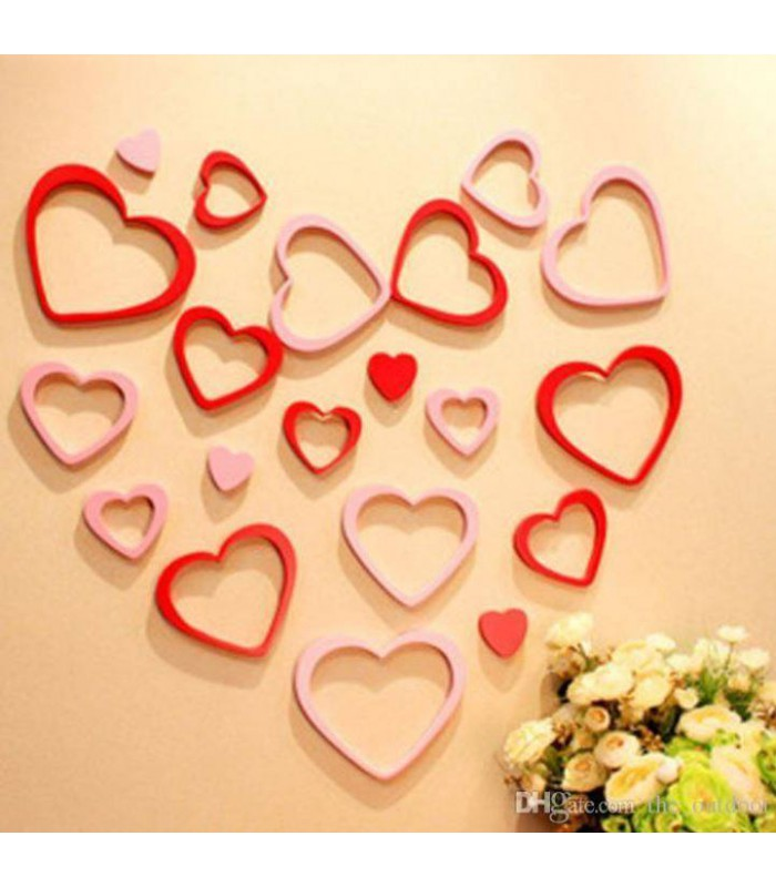 3D Wall Decoration - Heart Red