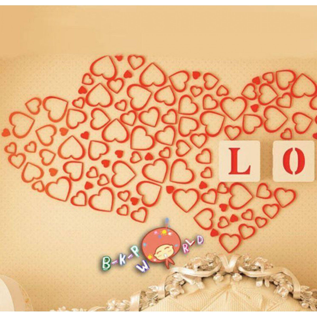 Wall Decoration - Heart Red
