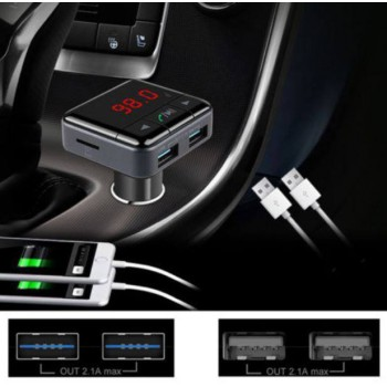 Bluetooth Hands-free Car Kit FM Transmitter MP3 Player w/ Dual USB Charger