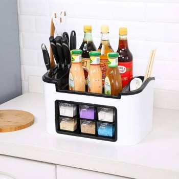 Kitchen Organiser with 6 Spice Rack Container