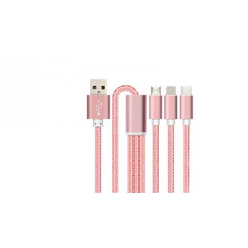 3 in 1 usb cable charger For iPhone x iPhone 8 7 6S 5S iPad
