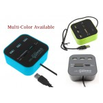 #Special# Memory Card Reader with 3 USB Hub Multi-Color Available