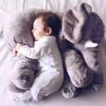 60cm Elephant Infant Soft Pillow Baby Playmat Doll Toys Kids Cushion