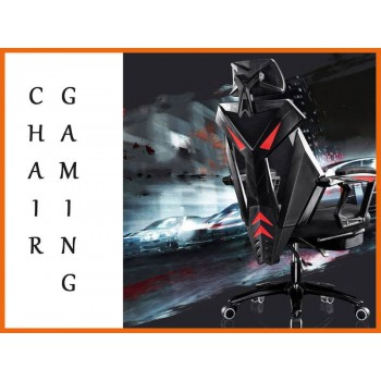 Gaming Chair Black Red Office PC Ergonomic Seat