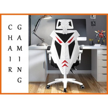 Gaming Chair Black white Office PC Ergonomic Seat