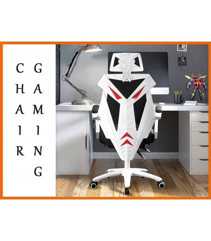 Gaming Chair Black white Office PC Ergonomic Seat