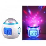 Music Star Light Projection Alarm Clock Including Batteries
