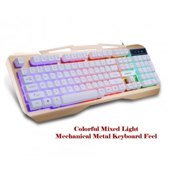 Backlight USB Mechanical feeling Waterproof Design Wired Gaming Keyboard