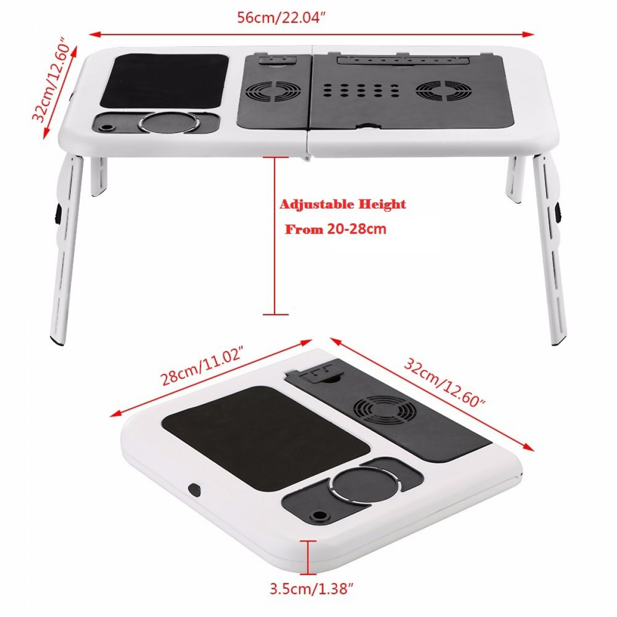 Special Porable Foldable Laptop Table With Cooler Pad