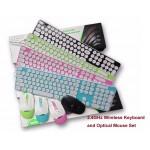 #Special# 2.4GHz Wireless Keyboard and Optical Mouse set Multi-Color Available