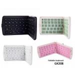 Portable Bluetooth Wireless Foldable Keyboard GK208 Multi-Color