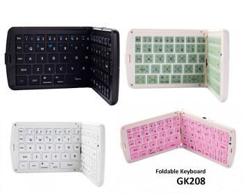 Portable Bluetooth Wireless Foldable Keyboard GK208 Multi-Color