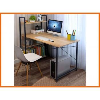 Computer Study Desk with Bookshelf - YELLOW