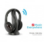 #Clearance# Wireless FM Headset with FM Emitter Station Headphone