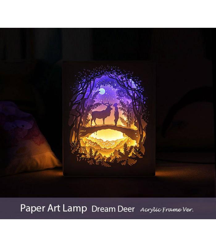 Papercut Light Box (Dream Deer)  Acrylic Frame