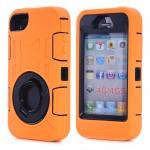 Tough Shockproof Case for iPhone 4/4S - orange