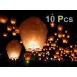 Flying Sky Lanterns Wishing Candle Lamp x 10