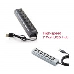 #Special# Portable High-speed 7 Port USB Hub Strip White or Black