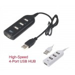 #Speciial# High-Speed Portable 4-Port USB HUB White or Black