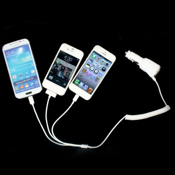 #Special# 3-in-1 Car Charger for Samsung & iPhone 3GS/4/4S/5/5S/6/6S & Camera