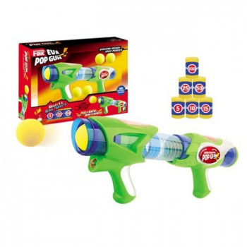 Eva Pop Gun Super Shooter Green No Battery needed Christmas Gift for Kids
