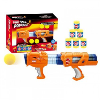 Eva Pop Gun Super Shooter Orange No Battery needed Gift for Kids - Orange