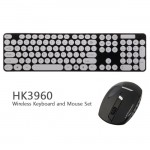 2.4GHz Wireless Keyboard and Optical Mouse-BLACK