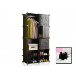 #Special# Magic DIY Storage Cube Wardrobe Storage Shelving Black