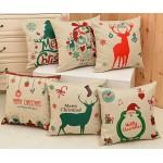 #Christmas Special# Cotton Christmas Cushion Cover / Pillow Case