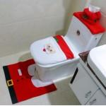 Christmas Santa Toilet Set - Seat Cover, Tank Cover and Mat