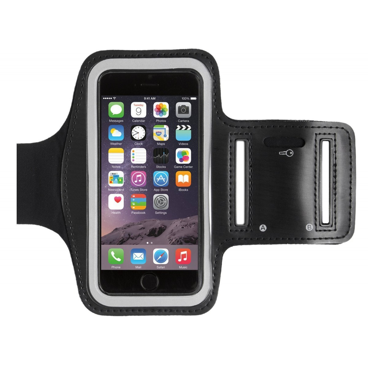 watch d1c45 d7298 Armband Case for iPhone 5/5s/6/6s Black