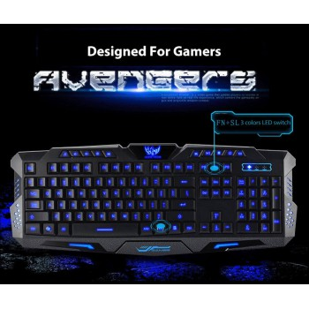 3 Color Backlit Gaming Keyboard