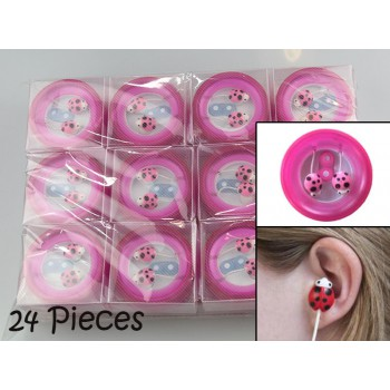 #Wholesale# 24 Pieces of Ladybird Earphone