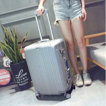 Aluminum frame+PC+ABS rolling luggage 20""