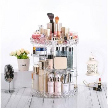 360-Degree Rotating Adjustable Makeup Organizer 1702D
