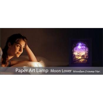 Papercut Light Box (Moon Lover)  Wooden Frame