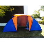 High Quality Tourist Double layer Two Bedroom 4 Persons Family Camping Tent
