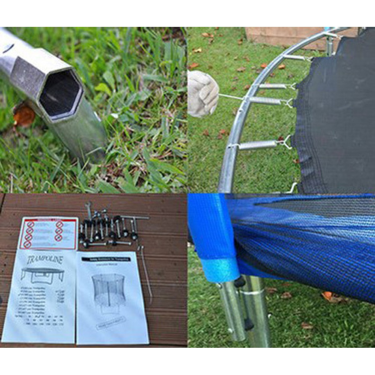 TrampKing 10FT Trampoline With Safety Net And Ladder