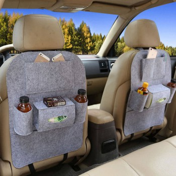 Two-Pack Car Back Organizer Felt Storage Bag Grey