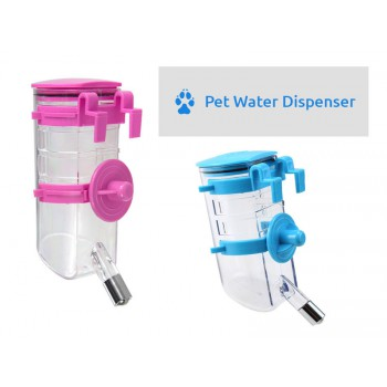 Water Bottle Pet Water Dispenser - Pink or Blue