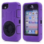 Tough Shockproof Case for iPhone 4/4S - purple
