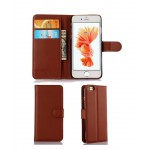 Leather Phone Case Card Wallet for iPhone 6 Brown