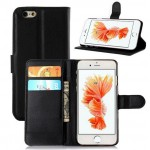 Leather Phone Case Card Wallet for iPhone 6 Black